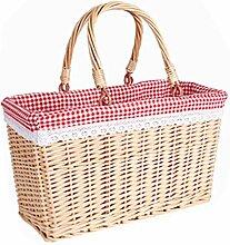 DBWIN Picknickkorb Osterkorb Weidenkorb mit
