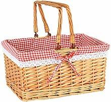 DBWIN Picknickkorb Osterkorb Weidenkorb