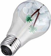 DC 5V 400ml Glühbirne Luftbefeuchter Aromatherapie Diffusor - Silber