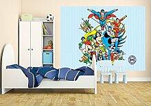 DC Comics all Characters Foto-Tapete 2-teilig - Fototapete Wallpaper 232x158cm. Beigelegt sind eine Packung Kleber und eine Klebeanleitung.