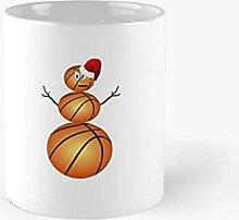 DC Prints Basketball-Schneemann Klassischer Becher