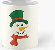 DC Prints Glücklicher Schneemann im Schnee