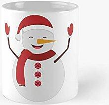 DC Prints Glücklicher Schneemann-Weihnachts-Ikone