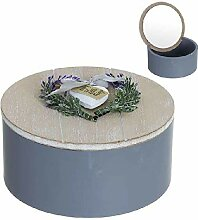 Dcasa Aufbewahrungsbox, rund, Lavendel, für