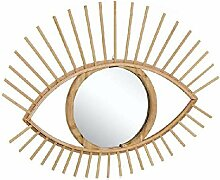 DCASA Bambus Form Augen Spiegel Wandspiegel Möbel