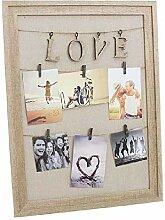 Dcasa Fotohalter Clips, Love Bilderrahmen,