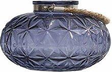 Dcasa Kerzenhalter aus Glas, oval, für