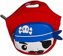 Dcasa Lunchbox aus Neopren, Piratentasche,