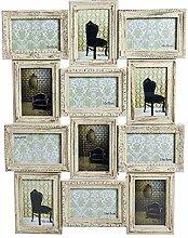 Dcasa Mehrfach-Bilderrahmen 12 Barock-Bilderrahmen