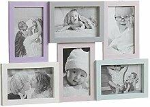 Dcasa Mehrfach-Bilderrahmen 6F Kinder-Fotorahmen,