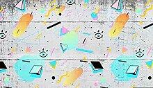 Dcivey 3D Fototapete Wandbild Abstract Geometric