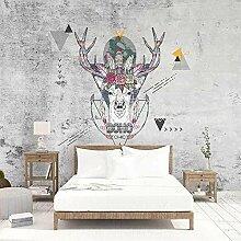 Dcivey 3D Fototapete Wandbild Geometric Elk