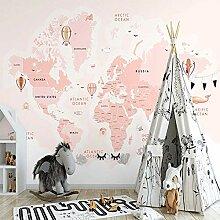 Dcivey Fototapete 3D Effekt Für Kinderzimmer Pink