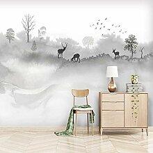 Dcivey Fototapete 3D Effekt Tapete Chinesische Art