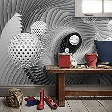 Dcivey Fototapete 3D Effekt Tapete Modern Abstract