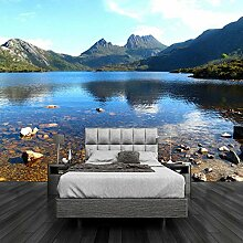 Dcivey Fototapete 3D Tapete Schöne Lake Mountain
