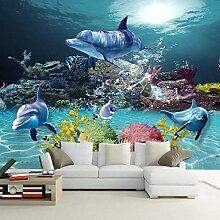 Dcivey Fototapete 3D Vlies Unterwasser Welt