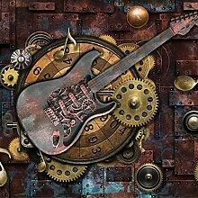 Dcivey Fototapete Für Wände 3D Retro Gitarre