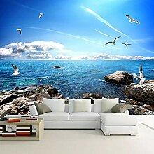 Dcivey Tapete Wandbild Blauer Himmel Weiße Wolken