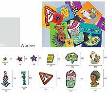 dckr stark haftend Colorful Wasserdicht Deco Aufkleber 11auf Gepäck, Laptop, Stationery ohne klebrige entfernen A Type