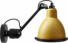 DCW Éditions Lampe Gras N304 XL Outdoor Seaside Wandleuchte Black Gelb (h) 30.4 X (Ø) 14.3 Cm
