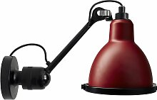 DCW Éditions Lampe Gras N304 XL Outdoor Seaside Wandleuchte Black Rot (h) 30.4 X (Ø) 14.3 Cm
