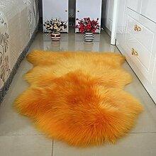 DCY Rug Wolle Sofakissen Schlafzimmer Wohnzimmer lange Wollteppiche , 4 , crown 1p 80*120