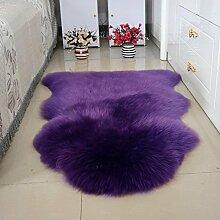 DCY Rug Wolle Sofakissen Schlafzimmer Wohnzimmer lange Wollteppiche , 7 , crown 1p 75*110