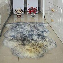 DCY Rug Wolle Sofakissen Schlafzimmer Wohnzimmer lange Wollteppiche , 11 , crown 1p 75*100