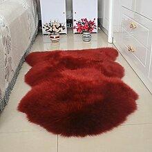DCY Rug Wolle Sofakissen Schlafzimmer Wohnzimmer lange Wollteppiche , 5 , crown 1p 75*100