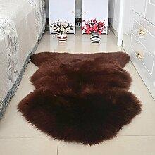 DCY Rug Wolle Sofakissen Schlafzimmer Wohnzimmer lange Wollteppiche , 9 , crown 1p 80*120