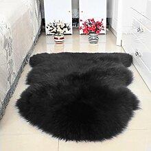 DCY Rug Wolle Sofakissen Schlafzimmer Wohnzimmer lange Wollteppiche , 1 , crown 1p 75*110