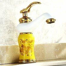 DD Golden Kupfer Wasserhahn Küche Badezimmer Schrank Waschbecken Becken Wasserhahn Sanitär Ware Goldfarben