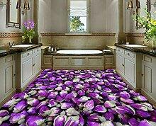DDBBhome Wandtapete mit violetter Rose,