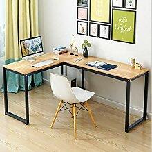 DDGOD L-förmige Home Office Ecke Holz