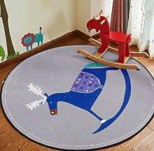 DDHZTA Runde Teppich Cartoon Kinderdecke