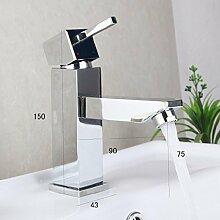 ddkd Kleine Design Badezimmer Wasserhahn Deck montiert Wasserhahn Chrom-Finish Badezimmer Waschbecken Wasserhahn Single Griff fairen Preis