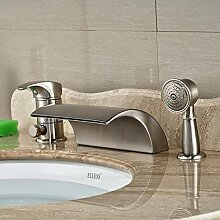 DDKD Luxus Deck Mount Wasserfall Widepsread Roman Tub Faucet Single Griff 3 Pcs Mischbatterie Badewanne Mit Handdusche