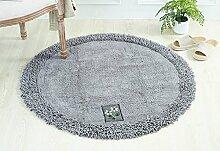 DDLANY Runder Teppich, Chenille dicker Teppich