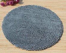 DDLANY Teppich, Mikrofaser Chenille Teppich Mode Runde Computer Kissen Teppich Fußauflage Rutschfeste Matte Türmatten Amerikanischen Teppich (Color #5, Größe: Durchmesser 70 cm)