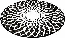 DDLANY Teppich, Nordic Schwarz und Weiß Geometrie