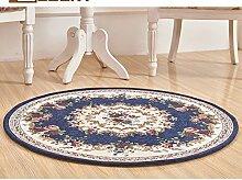 DDLANY Teppich, runde Jacquard, für Wohnzimmer, Couchtisch Schlafzimmer computer Sitzkissen, Durchmesser 90 cm oder 120 cm im Durchmesser, Amerikanische Teppich (Farbe: #3, Größe: #001# 002-120 cm)