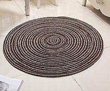DDLANY Teppich, Seil, rund, für Computer, Stuhl,