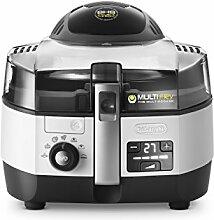De'Longhi MultiFry Extra Chef FH 1394 Heißluftfritteuse/Multicooker (1,7 kg Fassungsvermögen, 1.400W / 1.000W, 8 Portionen, SHS-Double-Pro, Rezepte-App) grau/weiß
