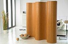 DE-COmmerce®l Doppelseitiger Bambus Paravent