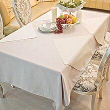 DE Runde tischdecke für hotels,cloth-style europäischen esstisch square tischtuch-B 140x160cm(55x63inch)
