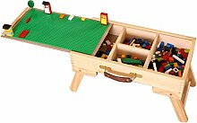 DE Shop Hohe Qualität LEGO Kompatibel Lagerung Spielen Tisch Falten Nach Maß Holz Kinder Kinder SLFT Standard Tafel