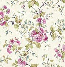 de40848–Chelsea Garden Floral Fine Decor Tapete Stein Lila