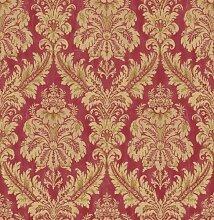 de40857 - Chelsea Garten Damast rot gold Fine Decor Tapete