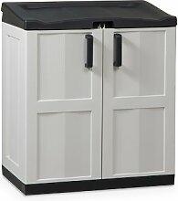 Dea Home Comfort Line Recyclingbox / Müllbox / Aufbewahrungsschrank Größe XL 102 x 90 x 54 cm inkl. Deckel / 2 Türen / 30 Müllbeutel grau/schwarz